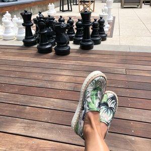 phenix green exotic print canvas sneakers